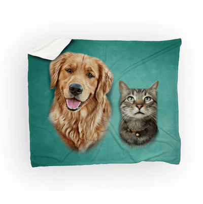 Custom Pet Blanket - 2 Pets