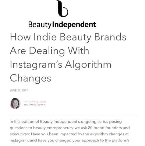 BEAUTY INDEPENDENT: How Indie Beauty Brands Are Dealing With Instagram's Algorithm Changes | Marine and Vine | Tahitian Oil