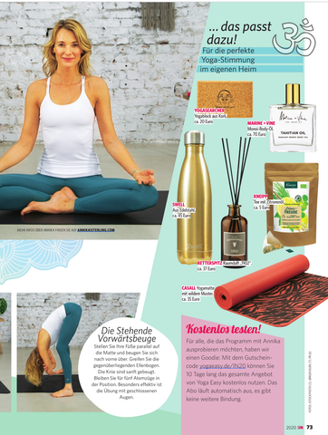 In Magazine Germany | Marine + Vine | Tahitian Oil | Zen Body Oils | Best Body Oil
