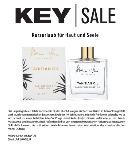 KEY SALE | MARINE + VINE | TAHITIAN OIL