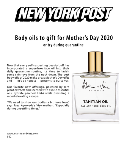 New York Post | Alexa | Mother's Day Gift Guide | Tahitian Oil | Evelyn Ginossi