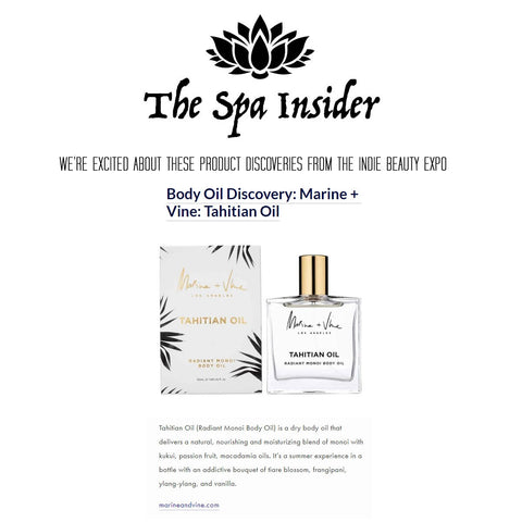 The Spa Insider Marine and Vine Tahitian Oil