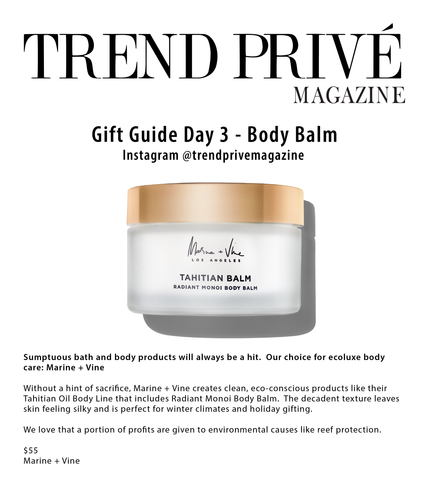 Trend Prive | Gift Guide for the Perfect Last Minute Gift | Tahitian Oil | Best Fragrance | Body Oil