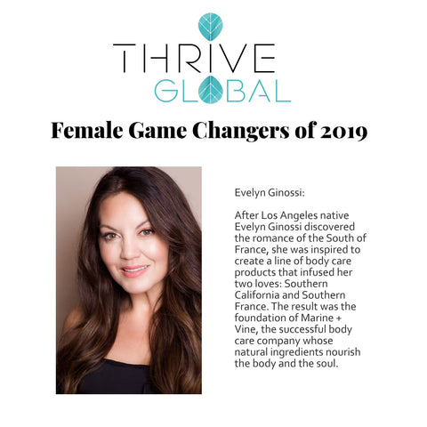 THRIVE GLOBAL: Female Game Changers of 2019