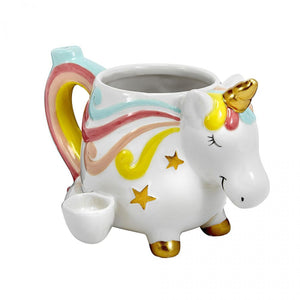 Ceramic Unicorn Mug Pipe