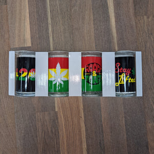 Rasta Beer Glass Set