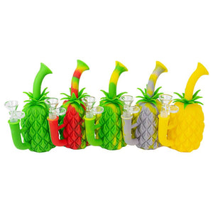 "7"" Silicone Pineapple Bubbler"