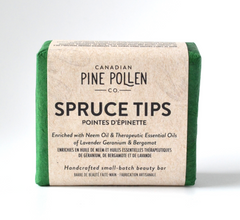 Pine pollen infused spruce tip Soap