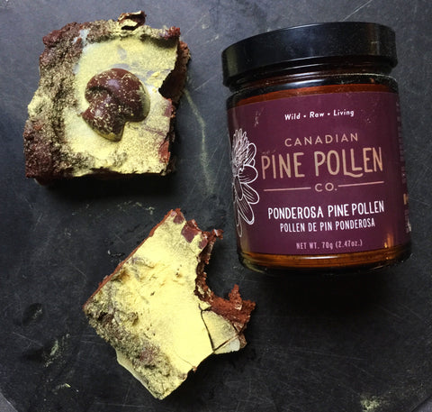 Pine pollen and chocolate recipe