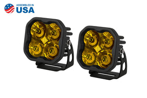 "STAGE SERIES 3"" SS3 YELLOW LED POD STANDARD (PAIR)"