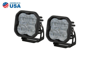 "STAGE SERIES 3"" SS3 WHITE LED POD STANDARD (PAIR)"