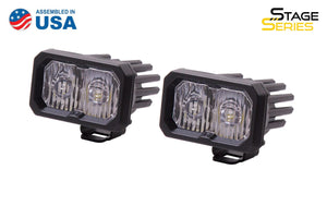 "Stage Series C2 2"" SAE/DOT White LED Pod (pair)"