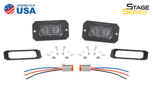 "Stage Series C2 2"" SAE/DOT White Flush Mount LED Pod (pair)"