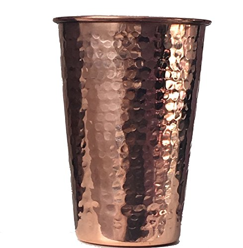 2 Copper Drinking Glasses
