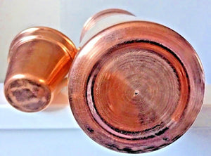 Copper Water Bottle (Inside & Outside) 26 Oz Yoga Ayurveda New