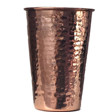 4 Copper Drinking Glasses Hammered Copper (In & Out) 14 oz