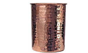 4 Copper Drinking Glasses Hammered Pure Copper ( In & Out) 12 oz