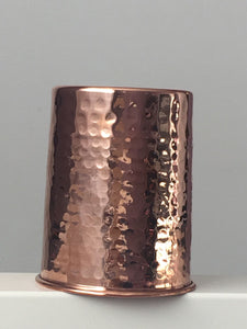 hammered copper glasses