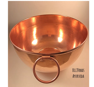 hammered copper mixing bowl set