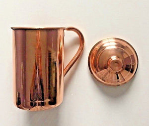 Copper pitcher with cover
