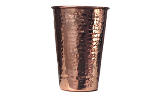 pure hammered copper glasses