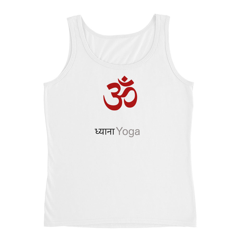 Yoga Ladies' Tank Top with spiritual Dhyana Yoga Om Print