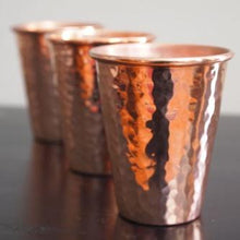 3 Copper Drinking Glasses
