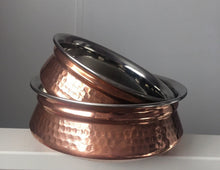 Copper-Serving-Bowl-Hammered-Stainless-Steel-Serving-Dishes-Appetizers-2-Set