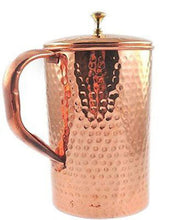 Pure Copper Pitcher (in/ out) hammered with cover 62 oz Jug Ayurveda Yoga Health