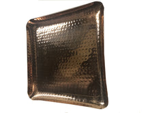 "Copper Hammered Square Serving Tray 8X8"" Hotel Home Decor Bar Tray Elegant New"