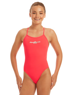 Girls Atomic Tie Back One Piece