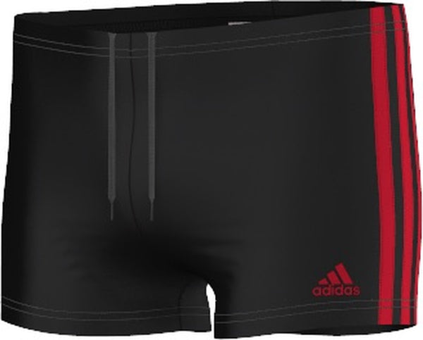 3-Stripes Boy's Boxer Black/ Scarlet - CitySport