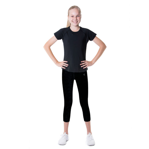 LOKA Athletica Lux 3/4 Training Tights - Black - CitySportOnline