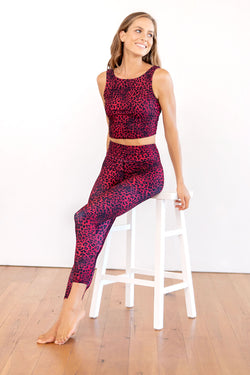Night Cat High Waist Printed 7/8 Legging - CitySportOnline