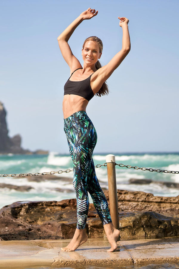 Luminous High Waist Printed 7/8 Legging - CitySportOnline