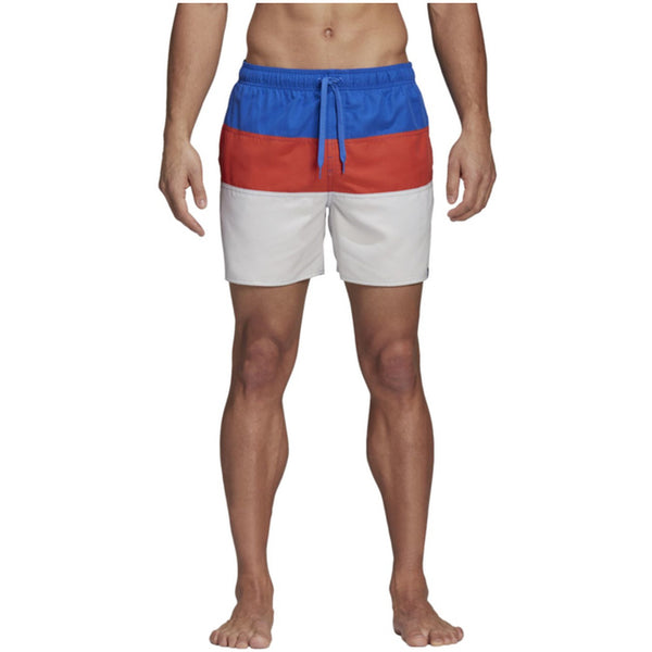 Colour Block Short High Res Blue/Raw Amber/Cloud White - CitySportOnline