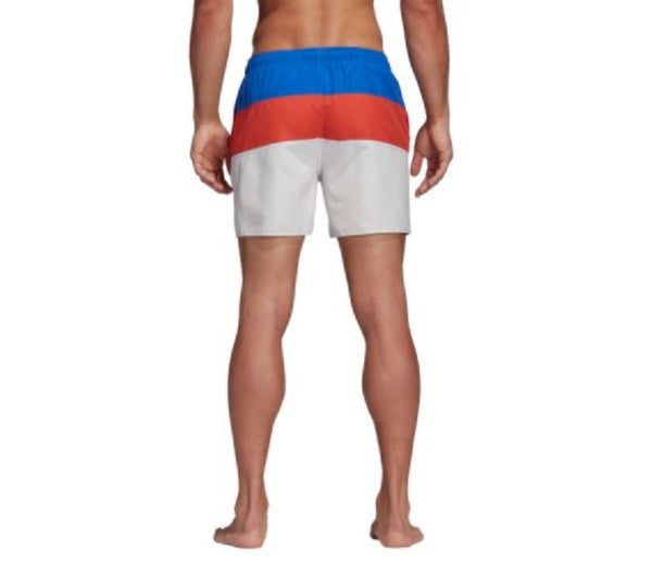 Colour Block Short High Res Blue/Raw Amber/Cloud White - CitySport