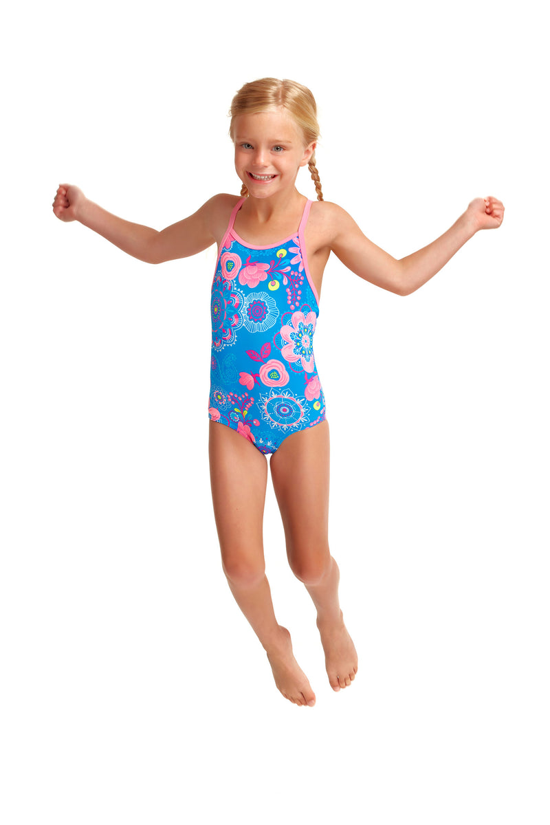 Toddler Girl's Printed One Piece Lacy In The Sky