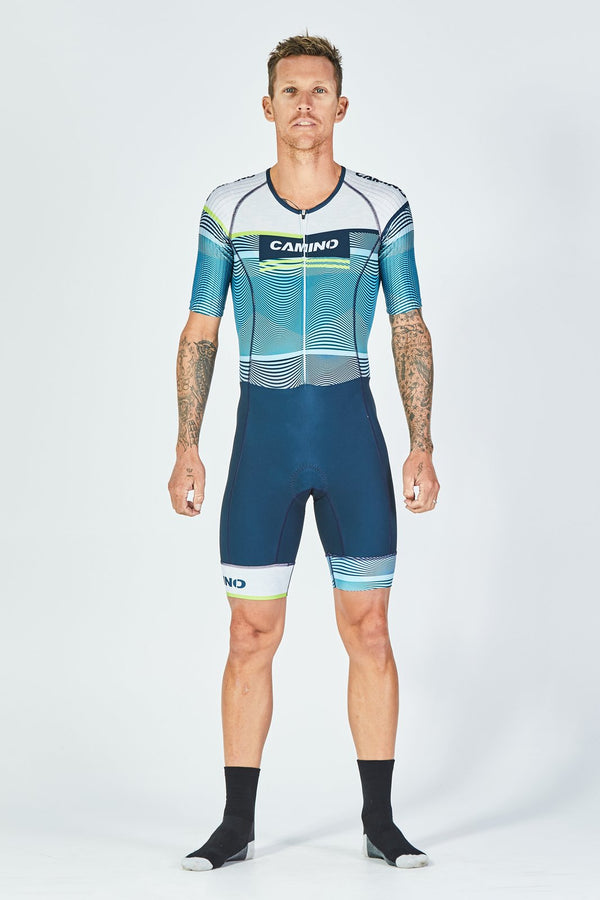 SHORT SLEEVE SUIT - FREQUENCY PRO - BLUE - CitySportOnline