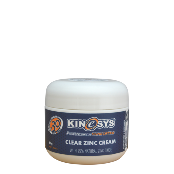 SPF 30 Clear Zinc Cream with 25% Zinc Oxide 60g - CitySport