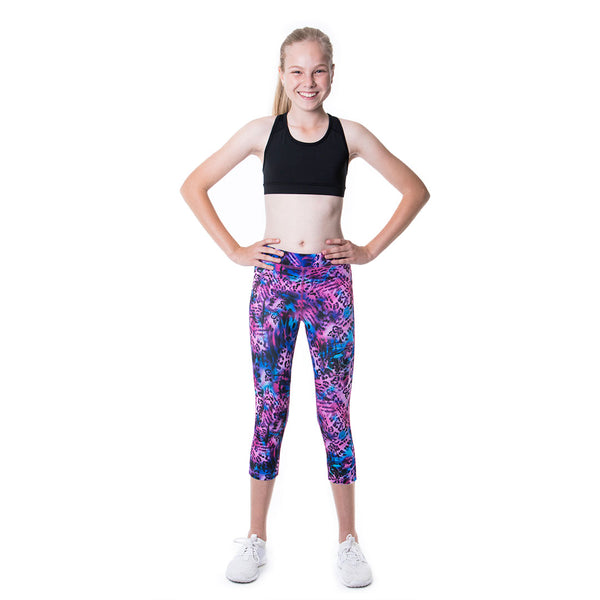 "LOKA Athletica ""Leopard Swirl"" Crop Tights - CitySportOnline"