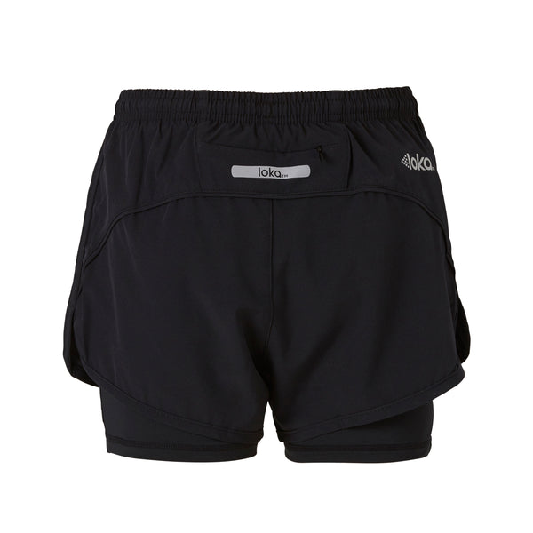 LOKA Athletica Running Short Black - CitySportOnline