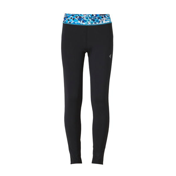 LOKA Full Length Tights- Black-Blue - CitySportOnline