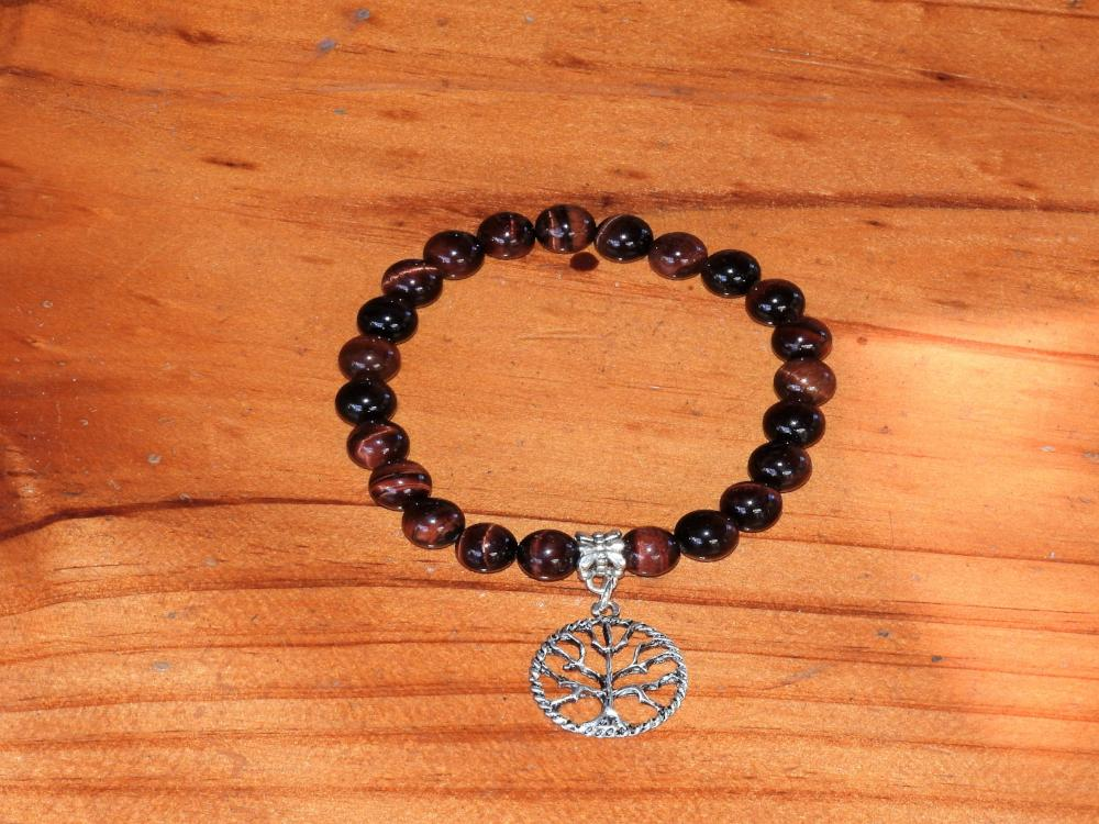 Crystal Bracelet - Red Tiger Eye