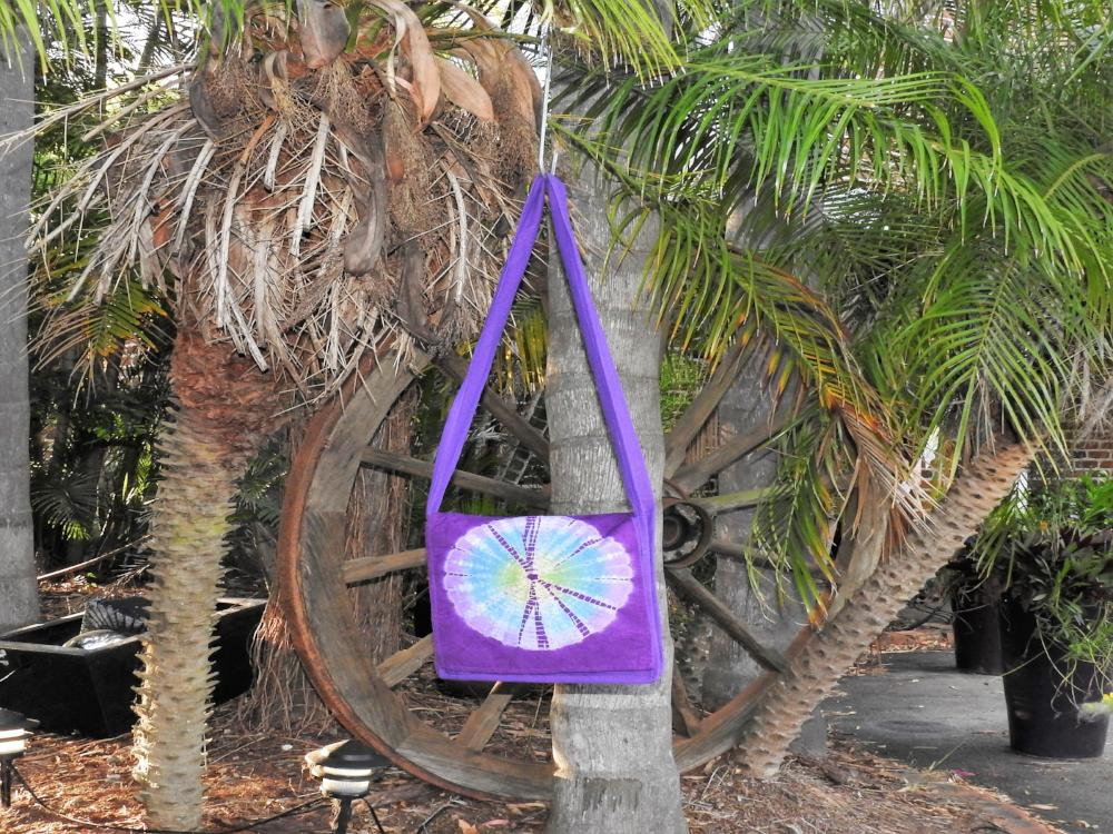 Flap Bag - Tie Dyed Purple