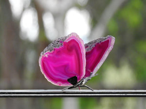 Agate Butterfly - Pink