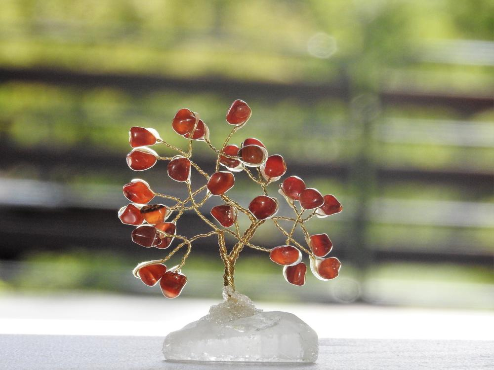 Small Carnelian Crystal Tree