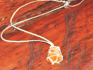 Macrame Necklace - Citrine Point