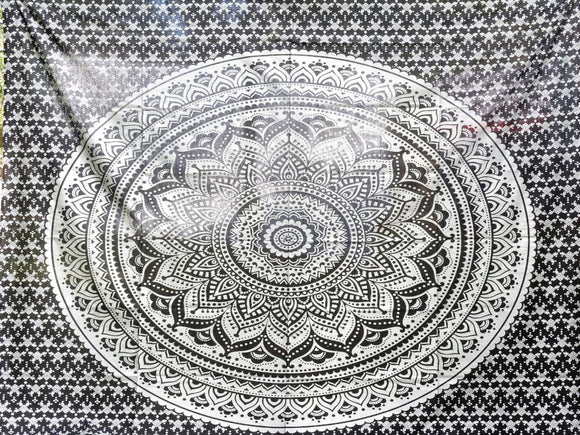 Black and Silver Mandala