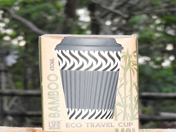 Eco Travel Mug - Zebra Design